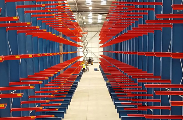 cantilever racking install