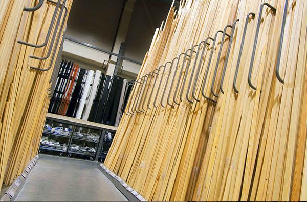 indoor vertical timber storage