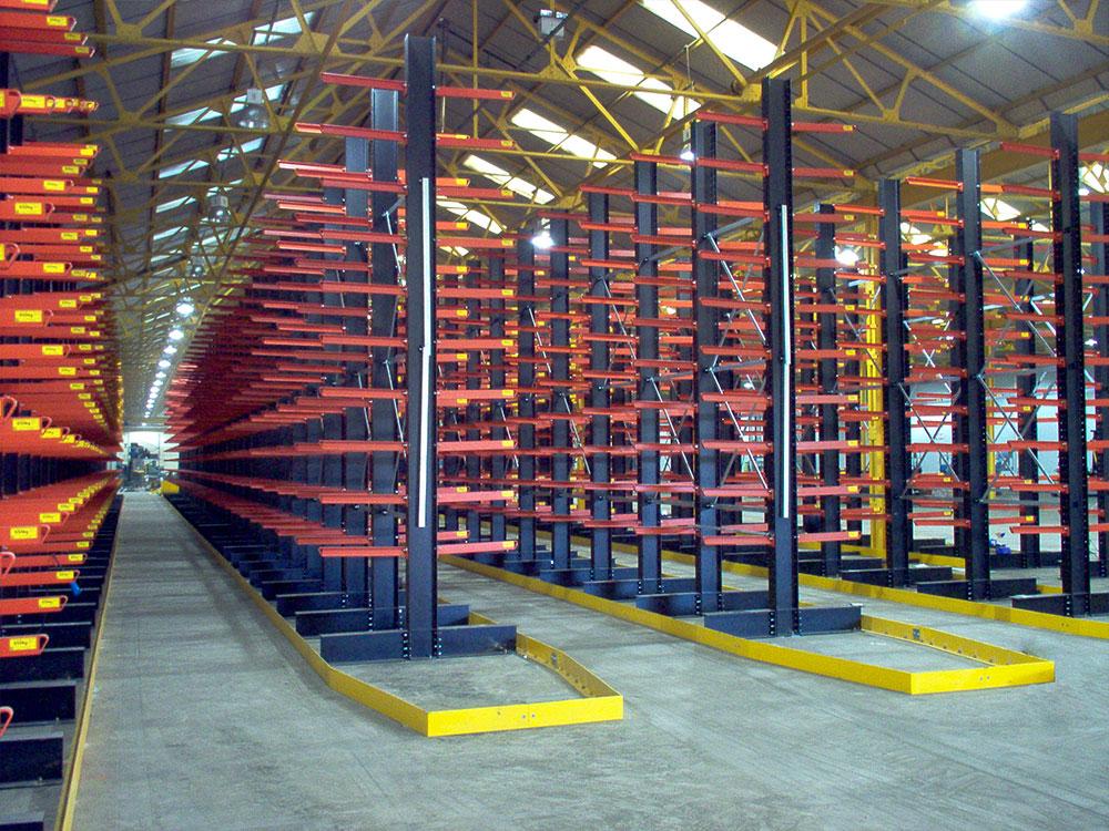 warehouse racking guided rail