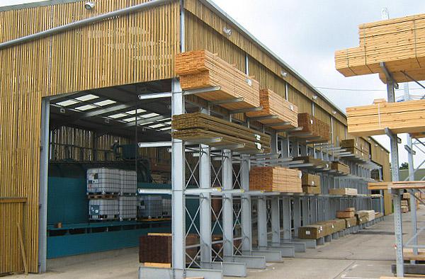 semi permanent cantilever warehouse racking