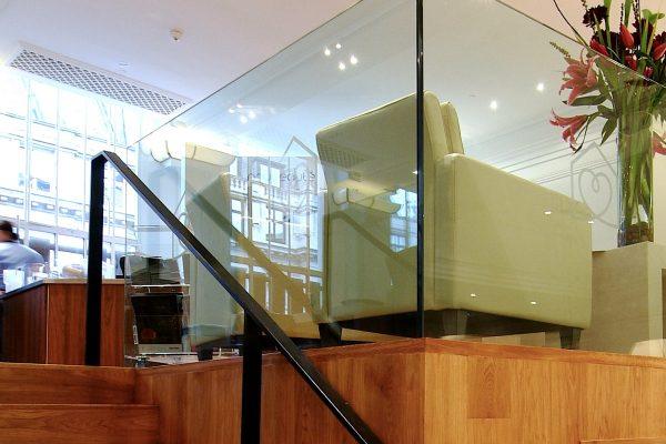 Open plan office mezzanine floor