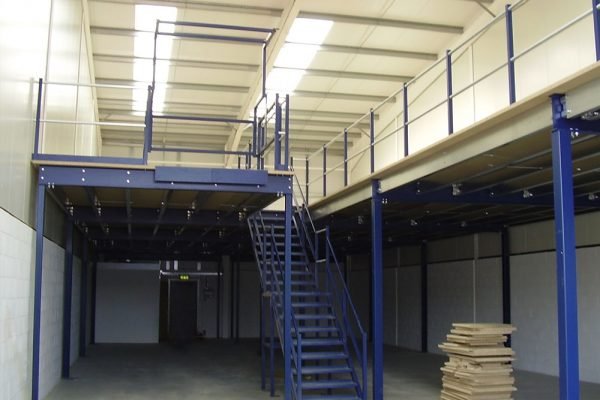 Warehouse storage mezzanine floor manufacturing